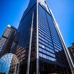 Chicago Willis Tower (Sears Tower) high resolution picture. Willis Tower is one of the tallest buildings in Chicago and the world.