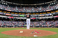 PHOENIX, AZ - April 11: D-backs pitcher Archie Bradley delivers a pitch against the Dodgers. (Photo by Jennifer Stewart/Arizona Diamondbacks)