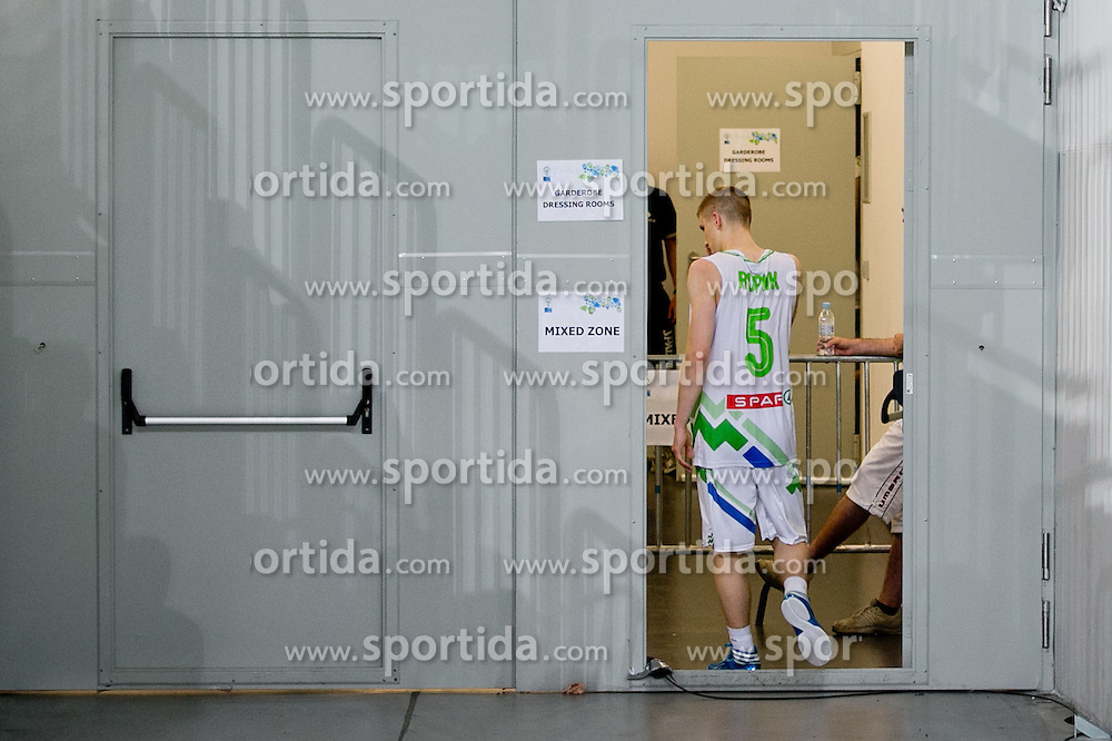 Luka Rupnik of Slovenia after basketball match between National teams of Slovenia and France in Quarterfinal Match of U20 Men European Championship Slovenia 2012, on July 20, 2012 in SRC Stozice, Ljubljana, Slovenia. (Photo by Matic Klansek Velej / Sportida.com)