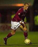06/12/2003 - Photo  Peter Spurrier.FA Cup 2nd Rd - Northampton v Weston S Mare.Northamptons Josh Low.