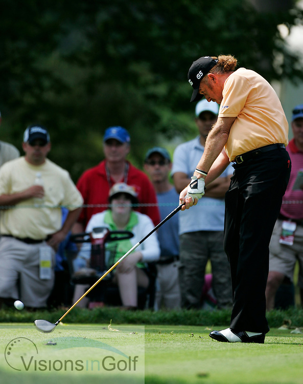 Miguel Angel Jimenez on the third day <br /> 060617 / Winged Foot GC, NY,  USA /  USGA Open Championship 2006<br /> Picture Credit: Mark Newcombe / visionsingolf.com