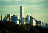 View from New Jersey of The World Trade Center, New York, NY