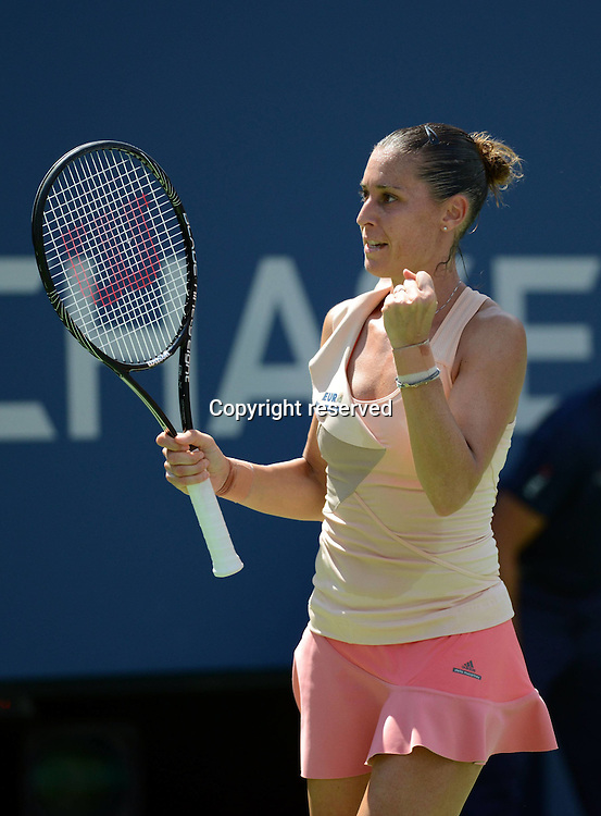 30.08.2014. Flushing Meadows, New York, USA. US Open tennis championships.  Flavia Pennetta (ITA)