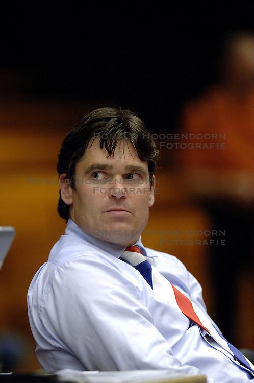 06-09-2006 BASKETBAL: NEDERLAND - SLOWAKIJE: GRONINGEN<br /> De basketballers hebben ook de tweede wedstrijd in de kwalificatiereeks voor het Europees kampioenschap in winst omgezet. In Groningen werd een overwinning geboekt op Slowakije: 71-63 / Bondscoach Marco van den Berg<br /> &copy;2006-WWW.FOTOHOOGENDOORN.NL