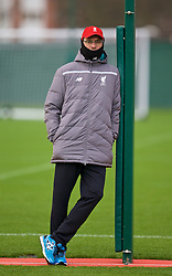 LIVERPOOL, ENGLAND - Wednesday, December 9, 2015: Liverpool's manager Jürgen Klopp during a training session at Melwood Training Ground ahead of the UEFA Europa League Group Stage Group B match against FC Sion. (Pic by David Rawcliffe/Propaganda)