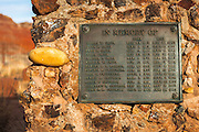 Name plaque at the Paria (Pahreah) pioneer cemetery, Grand Staircase-Escalante National Monument, Utah USA