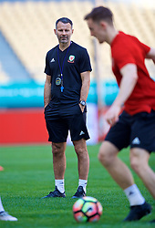 NANNING, CHINA - Tuesday, March 20, 2018: Wales' new manager Ryan Giggs during a training session at the Guangxi Sports Centre ahead of the opening 2018 Gree China Cup International Football Championship match against China. (Pic by David Rawcliffe/Propaganda)