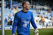 Portsmouth goalkeeper Ryan Fulton sign for life during the Sky Bet League 2 match between Portsmouth and Cambridge United at Fratton Park, Portsmouth, England on 27 February 2016. Photo by Adam Rivers.