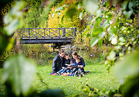 Fun, candid family photo shoot with the Fuss family at the Arboretum in Ottawa on October 11, 2014.