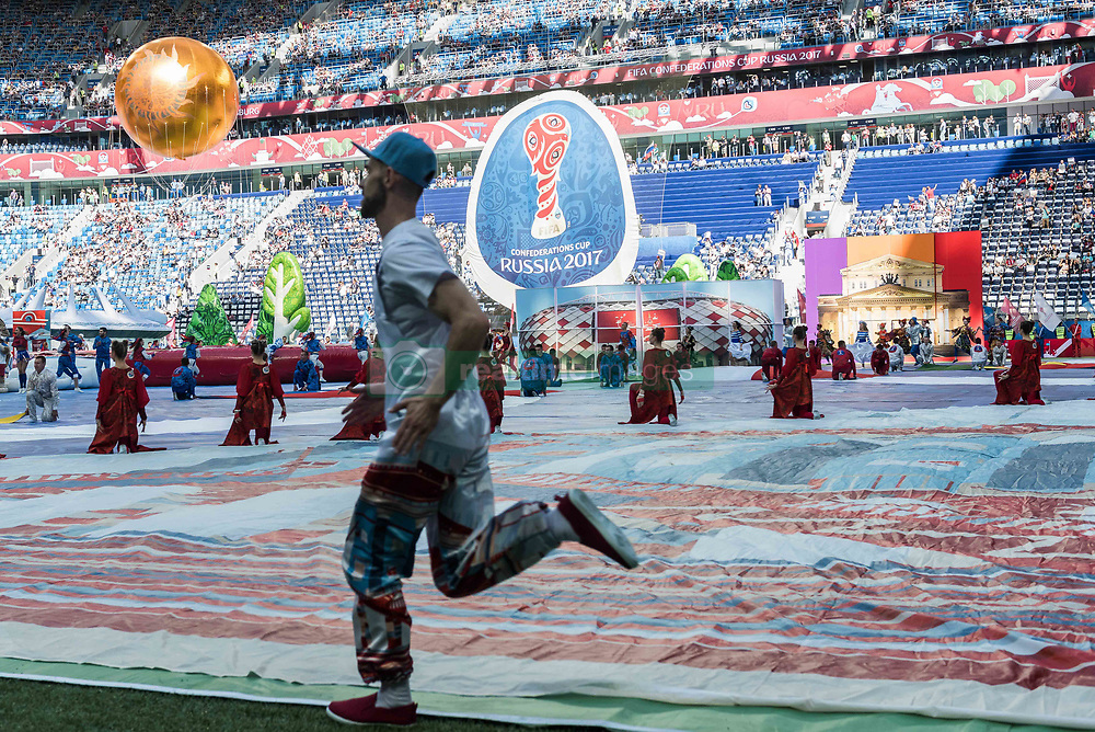 SAINT PETERSBURG, June 17, 2017  Photo taken on June 17, 2017 shows the opening ceremony of the FIFA Confederations Cup 2017 in Saint Petersburg, Russia. (Credit Image: © Evgeny Sinitsyn/Xinhua via ZUMA Wire)