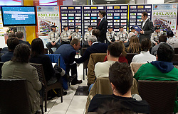 Igor Mrzlikar of SGP Tehnik at press conference of Slovenia Biathlon team before new season 2010 - 2011, on November 24, 2010, in Emporium, BTC, Ljubljana, Slovenia.  (Photo by Vid Ponikvar / Sportida)
