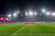 SYDNEY, AUSTRALIA - APRIL 13: a general view of ANZ Stadium at round 25 of the Hyundai A-League Soccer between Western Sydney Wanderers and Sydney FC  on April 13, 2019 at ANZ Stadium in Sydney, Australia. (Photo by Speed Media/Icon Sportswire)