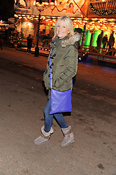 GABY ROSLIN at the opening of the 2012 Winter Wonderland, Hyde Park on 22nd November 2012.
