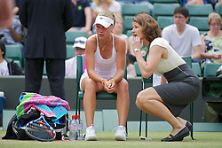 LONDON, ENGLAND - Sunday, July 3, 2011: Irina Khromacheva (RUS) in tears after losing the Girls' Singles Final match on day thirteen of the Wimbledon Lawn Tennis Championships at the All England Lawn Tennis and Croquet Club. (Pic by David Rawcliffe/Propaganda)