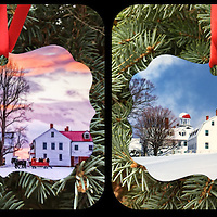Christmas at Canterbury Shaker Village Ornament.<br />