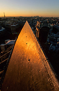 France. Paris. elevated view. Paris.the roofs  view from Saint Eustache church bell tower
