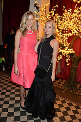 Left to right, OLIVIA HUNT and ALICE NAYLOR-LEYLAND at the Sugarplum Dinner - The event was for the launch of Sugarplum Children, a new website and fundraising initiative for children who live with type 1 diabetes, and to raise money for JDRF (Juvenile Diabetes Research Foundation) held at One Mayfair, 13A North Audley Street, London on 20th November 2013.