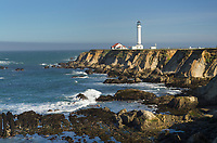 Point Arena Lighthouse on the Mendocino Coast California
