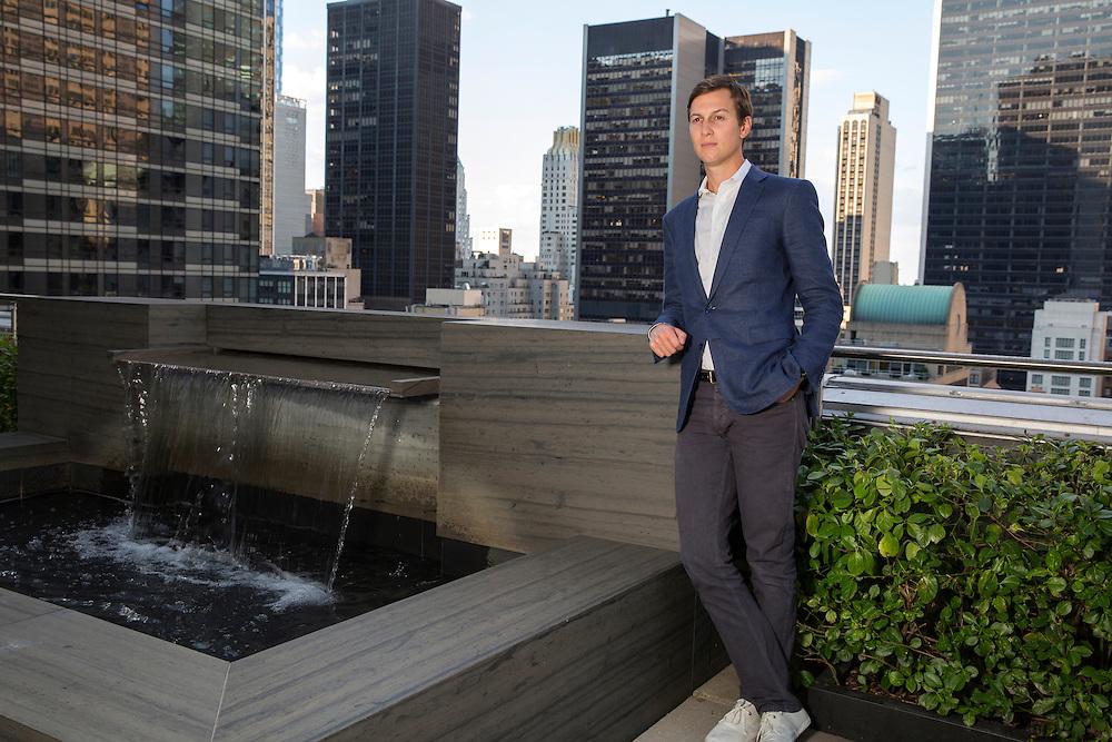 Jared Kushner Senior Advisor to President Donald Trump at his privet office in Manhattan NY