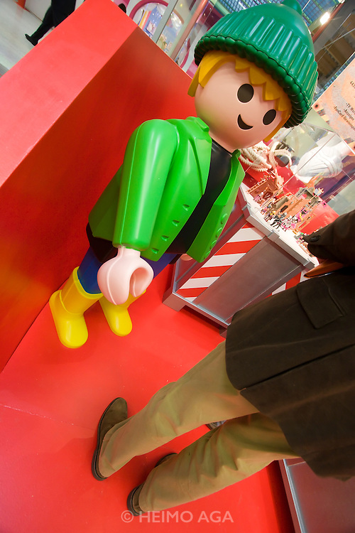 Spielwarenmesse Nürnberg (International Toy Fair Nuremberg) 2005. World's biggest toy fair. Playmobil.