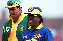 The two captains, Sri Lanka's Arjuna Ranatunga (right) and Hansie Cronje of South Africa (left)