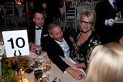 DAVID FURNISH; PATRICK COX; LOUISE FENNELL, The Ormeley dinner in aid of the Ecology Trust and the Aspinall Foundation. Ormeley Lodge. Richmond. London. 29 April 2009