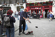 Puppet show street entertainer, Galway City, Galway, Ireland
