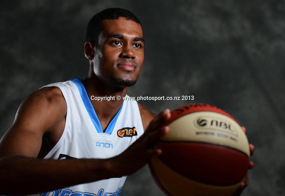 Alonzo Burton. SkyCity Breakers Media Day. Potrait Session ahead of the 2013/14 iinet ANBL Basketball Season. Auckland. New Zealand. Thursday 5 September 2013. Photo: Andrew Cornaga / photosport.co.nz