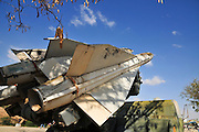 Israel, Hazirim, near Beer Sheva, Israeli Air Force museum. The national centre for Israel's aviation heritage. Anti-aircraft surface-to-air missiles