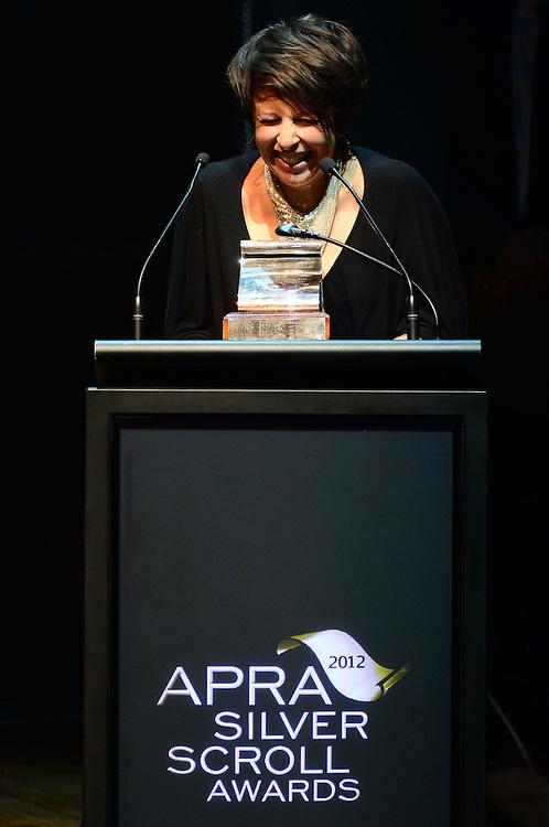Stephanie Brown, winner of the APRA Silver Scroll Award 2012. Auckland Town Hall. 13 September 2012.