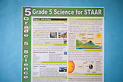 STAAR science poster at Lyons Elementary school, April 15, 2013.