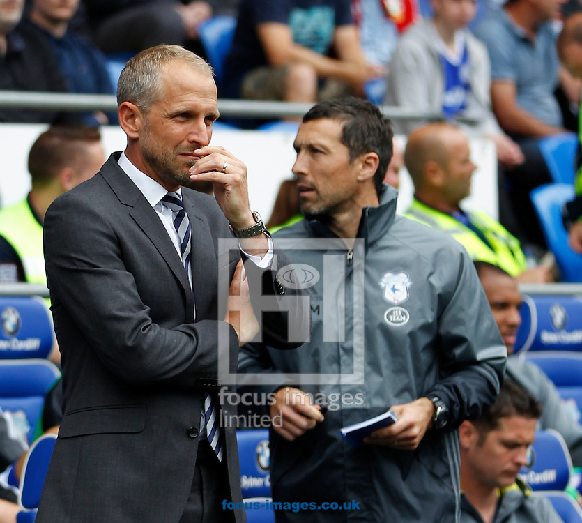 Paul Trollope of Cardiff City during the Sky Bet Championship match at the Cardiff City Stadium, Cardiff<br /> Picture by Mike Griffiths/Focus Images Ltd +44 7766 223933<br /> 14/08/2016