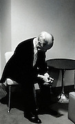 Rudolph Serkin, preparing in dressing room and backstage before performance as guest pianist LA Philharmonic April 1973 Zubin Mehta conducting: Penderecki de Natura Sonoris ll*** <br /> Mozart: Piano Concerto in F, K.459<br /> Brahms: Piano Concerto No 1