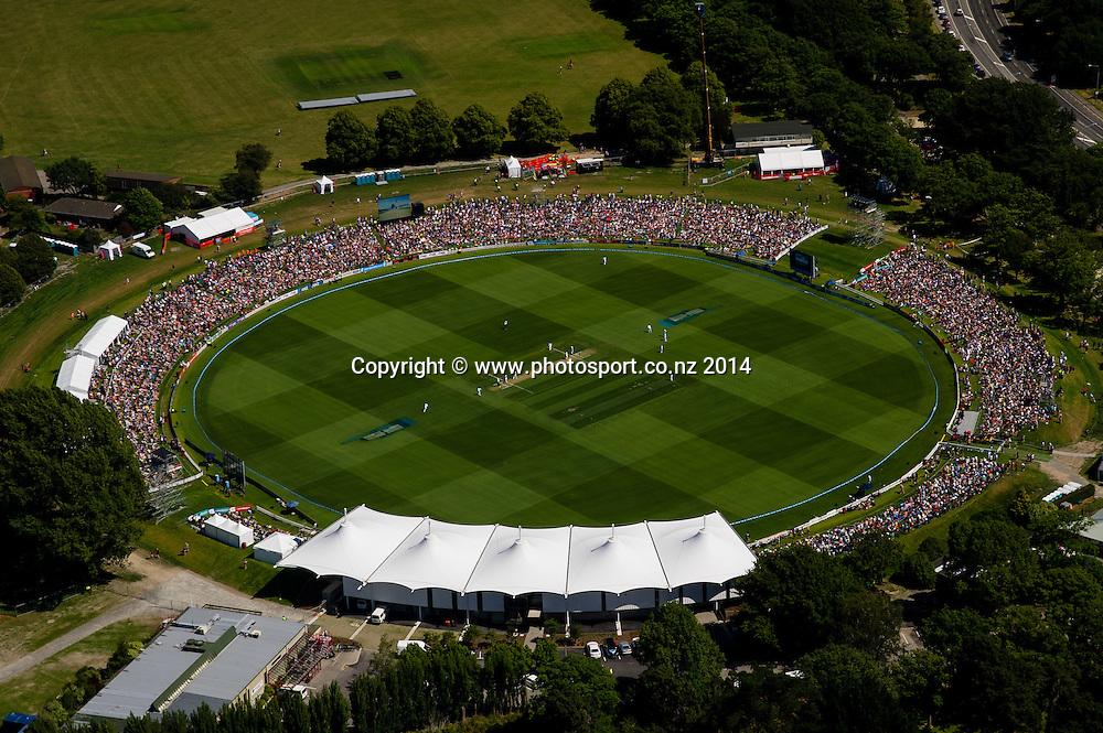 in the 1st day of the cricket test match, NZ v Sri Lanka, Hagley Oval, 26 December 2014. Photo:John Davidson/www.photosport.co.nz