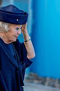 BORSSELE - Prinses Beatrix woont de opening bij van het opslaggebouw voor verarmd uranium bij de Centrale Organisatie Voor Radioactief Afval (COVRA). ANP ROYAL IMAGES ROBIN UTRECHT