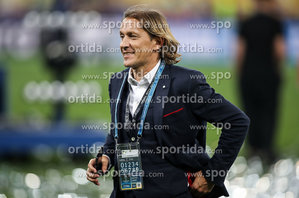 Míchel Salgado of Real Madrid CF on a pitch after Real Madrid won 3-1 during the UEFA Champions League final football match between Liverpool and Real Madrid and became Champions League  2018 Champions third time in a row at the Olympic Stadium in Kiev, Ukraine on May 26, 2018.Photo by Andriy Yurchak / Sportida
