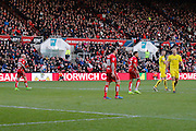 Bristol City striker Lee Tomlin (10) and team mates turn away as Bristol City striker Lee Tomlin (10) penalty goes over the bar (0-0) during the EFL Sky Bet Championship match between Bristol City and Burton Albion at Ashton Gate, Bristol, England on 4 March 2017. Photo by Richard Holmes.
