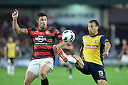 21.04.2013 Sydney, Australia. Action during the Hyundai A League grand final game between Western Sydney Wanderers FC and Central Coast Mariners FC from the Allianz Stadium.Central Coast Mariners won 2-0.