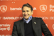 Philippe Montanier (Manager) (Nottingham Forest) talks to the press after the EFL Sky Bet Championship match between Barnsley and Nottingham Forest at Oakwell, Barnsley, England on 25 November 2016. Photo by Mark P Doherty.
