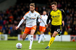 Andrew Shinnie of Luton Town takes on Ben Fox of Burton Albion - Mandatory by-line: Robbie Stephenson/JMP - 27/04/2019 - FOOTBALL - Pirelli Stadium - Burton upon Trent, England - Burton Albion v Luton Town - Sky Bet League One