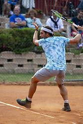 June 18, 2018 - L'Aquila, Italy - Gian Marco Moroni during match between Gian Marco Moroni (ITA) and Andrea Arnaboldi (ITA) during day 3 at the Internazionali di Tennis Citt dell'Aquila (ATP Challenger L'Aquila) in L'Aquila, Italy, on June 18, 2018. (Credit Image: © Manuel Romano/NurPhoto via ZUMA Press)