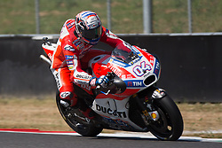 June 3, 2017 - Scarperia, Italy - Andrea DOVIZIOSO ITA Ducati Team during the Day2 qualifications at the Mugello International Cuircuit for the sixth round of MotoGP World Championship Gran Premio d'Italia Oakley  on June 3, 2017 in Scarperia, Italy. (Credit Image: © Fabio Averna/NurPhoto via ZUMA Press)