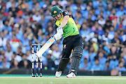 Aaron Finch looks to hit out. T20 international, Australia v India. Sydney Cricket Ground, NSW, Australia, 25 November 2018. Copyright Image: David Neilson / www.photosport.nz