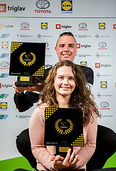Anja Drev and Marino Kegl during Slovenian Disabled Sports personality of the year 2017 event, on December 6, 2017 in Austria Trend Hotel, Ljubljana, Slovenia. Photo by Vid Ponikvar / Sportida