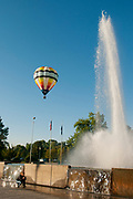 Hot Air Balloon Festival in Julia Davis Park, Boise, Idaho.