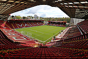 The Valley stadium bowl before the Sky Bet Championship match between Charlton Athletic and Brighton and Hove Albion at The Valley, London, England on 23 April 2016.