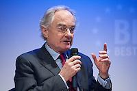 26 FEB 2009, BERLIN/GERMANY:<br /> Bernard de Montferrand, Botschafter von Frankreich in Berlin, Podiumsdiskussion, Preisverleihung des Best of European Business Awards, Franzoesische Botschaft<br /> IMAGE: 20090226-02-023