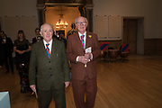 GILBERT AND GEORGE, 2019 Royal Academy Annual dinner, Piccadilly, London.  3 June 2019