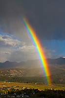 Rainbow over the town of Ridgway, Colorado.