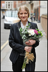 Former parliamentary aide and alleged Russian spy Katia Zatuliveter, 26, leaves the Special Immigration Appeals Commission in London,after she won her battle to remain in the UK today and not be deported after a tribunal ruled in her favour. Zatuliveter, convinced the Special Immigration Appeals Commission (Siac) that she was not liaising with Russian spies while working for MP Mike Hancock, a member of the Defence Select Committee, with whom she had an affair, Tuesday November 29, 2011 Photo by Andrew Parsons/ i-Images